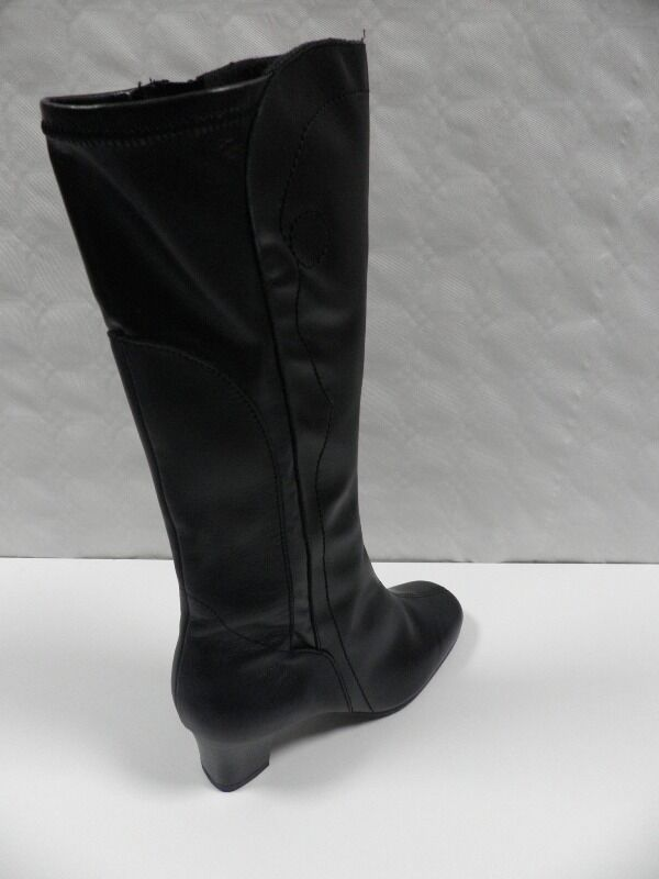 Bottes OMBELLE Jonno black FEMME size 35 bottines boots boots boots woman cuir leather NEUF bd15c6