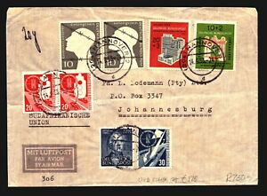 Germany-1953-Cover-w-Several-Better-Issues-Light-Fold-Z14176
