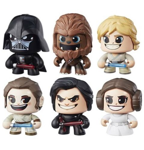Star Wars Mighty Muggs Action Figures Wave 1 Set Kylo Ren Leia Luke Darth Vader