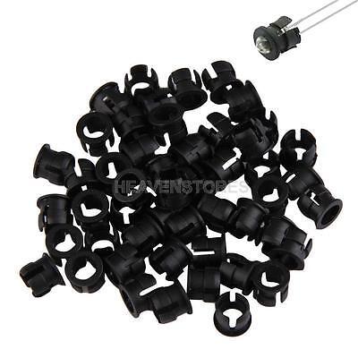 50PCS, 5mm Black Plastic LED Holders Clips-Bezels Mounts  hv2n