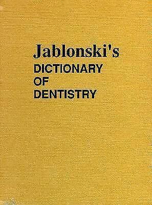 1 of 1 - NEW Jablonski's Dictionary of Dentistry by Stanley Jablonski