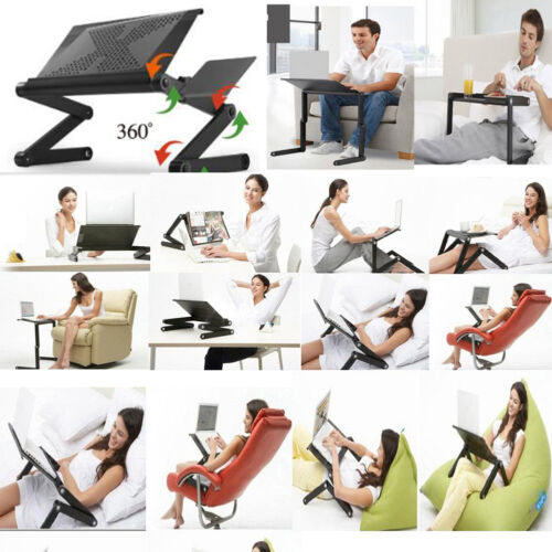 Portable Laptop Computer Desk Bed Sofa Tray Stand Foldable Table w//Air Vented