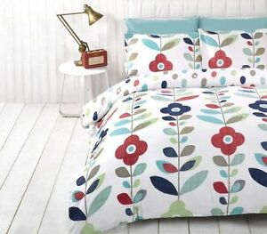 Lulu-Flower-Graphic-Blue-Single-Double-Queen-King-Bed-Quilt-Duvet-Cover-Set