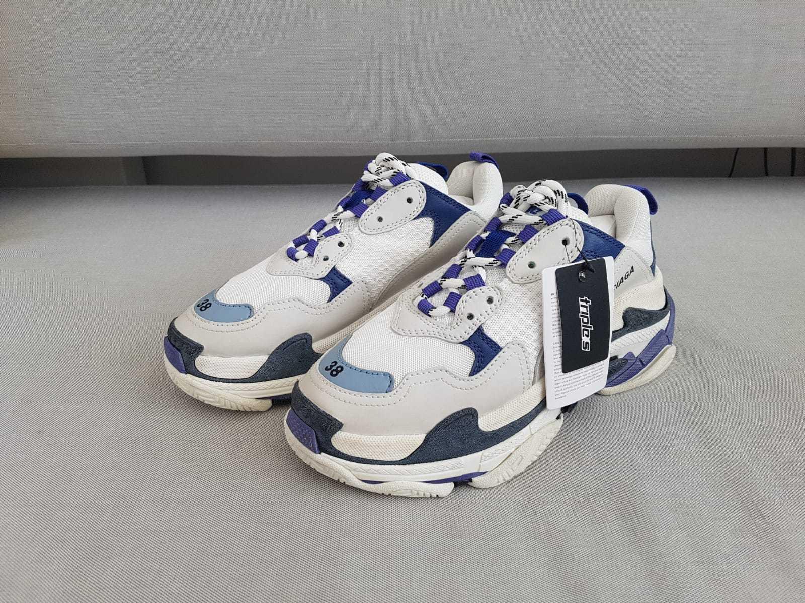 BALENZIAGA TRIPLE S scarpe da ginnastica BIANCI    viola Dimensione EU 35, 36, 37, 38, 39  sport dello shopping online