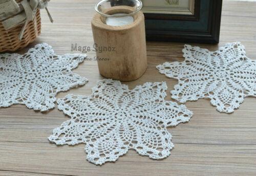Dozen White Victorian Crochet Doilies Coasters Lot Pineapple Floral Applique