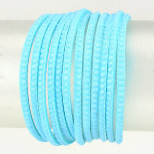 Celeb-Statement-Aqua-Silver-Faux-Suede-Stud-Wrap-Bracelet-By-Rocks-Boutique