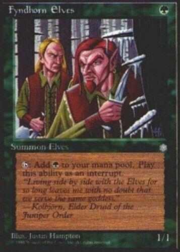 1x Fyndhorn Elves HP English MTG Ice Age
