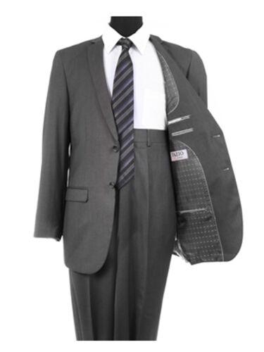 Men/'s Solid Two Buttom Business Church 2 Piece Birdseye Notch Lapel Fit Suit