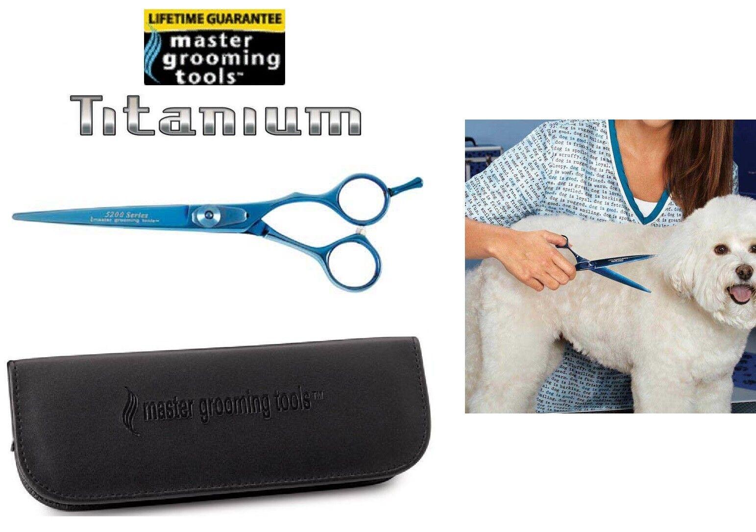 Master Grooming PRO TITANIUM 440C STEEL 6.5  STRAIGHT SHEAR SCISSOR Pet GROOMING