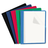 Universal Clear Front Report Cover Tang Fasteners Letter Size Assorted Colors 25 on sale