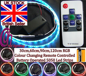 9v Pp3 Battery Operated Remote Controlled 5050 Rgb Led Strip Mood