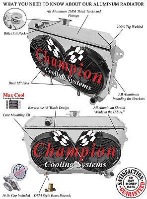 2 Row Performance Champion Radiator for 1974 1975 Datsun 260Z L6 Engine