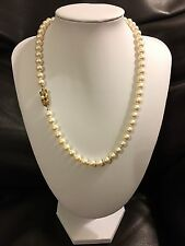 """MIKIMOTO 19"""" PEARL NECKLACE 14K AAA- QUALITY APPRAISED AT $3,775 LIMITED EDITION"""