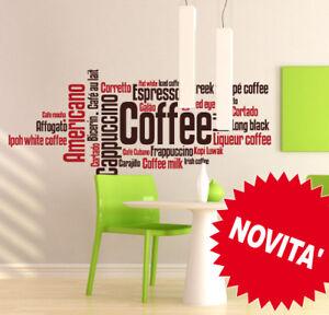 DernièRe Collection De 00263 Wall Stickers Adesivi Murali Caffè Coffee 120x65 Cm Sticker
