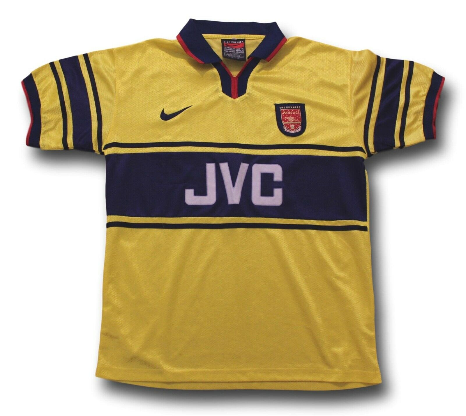 7cde44775 Vintage 1997-99 Arsenal Football Shirt Jersey Mens Size XL Away Soccer  nvcwxf2846-Clothing