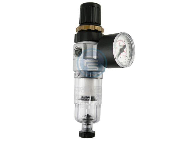 """Druckminderer Filterregler 350 l/min Wasserabscheider G1/8"""" G1/4""""- mit Manometer"""