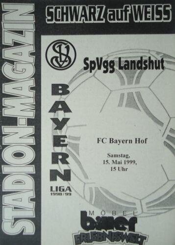 FC Bayern Hof Programm 1998//99 SpVgg Landshut