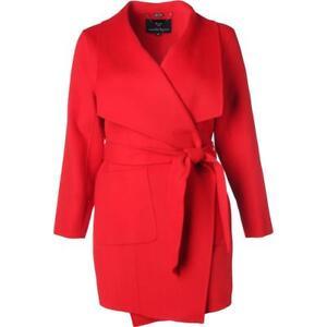 NWT-Women-Nanette-Lepore-Red-Wool-Blend-Wrap-Coat-Jacker-Outwear-Belted-Plus-1X