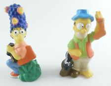 Homer & Marge Simpson CAMPING Figures 1990 The Simpsons Fishing Bird Watching
