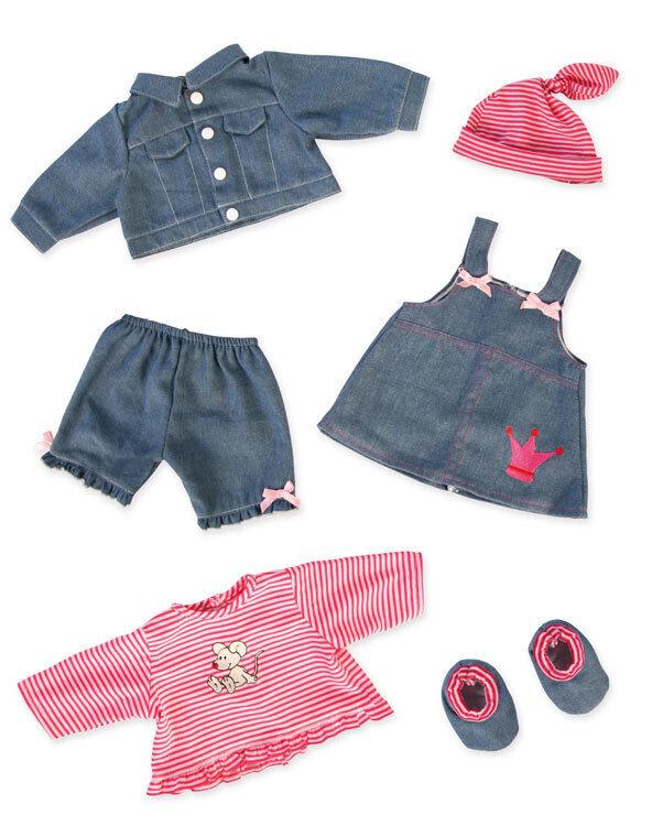 Jeanskleiderset für Puppen Grösse Grösse Grösse 38-46cm 3c1c8f