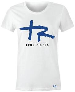 034-True-Riches-034-Women-Juniors-T-Shirt-to-Match-Air-Retro-4-034-MOTORSPORT-034