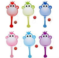 12 Monkey Paddle Balls 9 Inch Party Favor Game, Birthday Carnival Toy Goody Bags