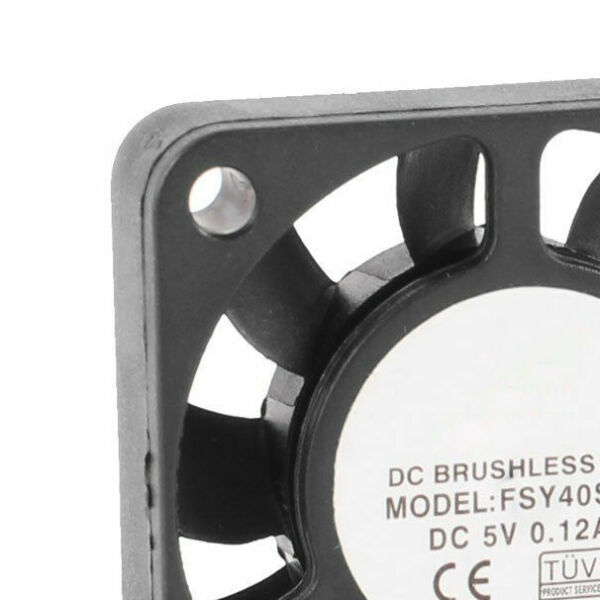 DC 5V 0.12A 2Pin Brushless Sleeve Bearing Cooling Fan Heatsink 40mm x 10mm  DT