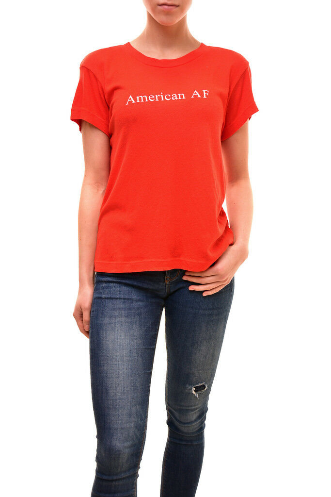 Wildfox Woherren Authentic American AF Shirt rot Größe S RRP  BCF84