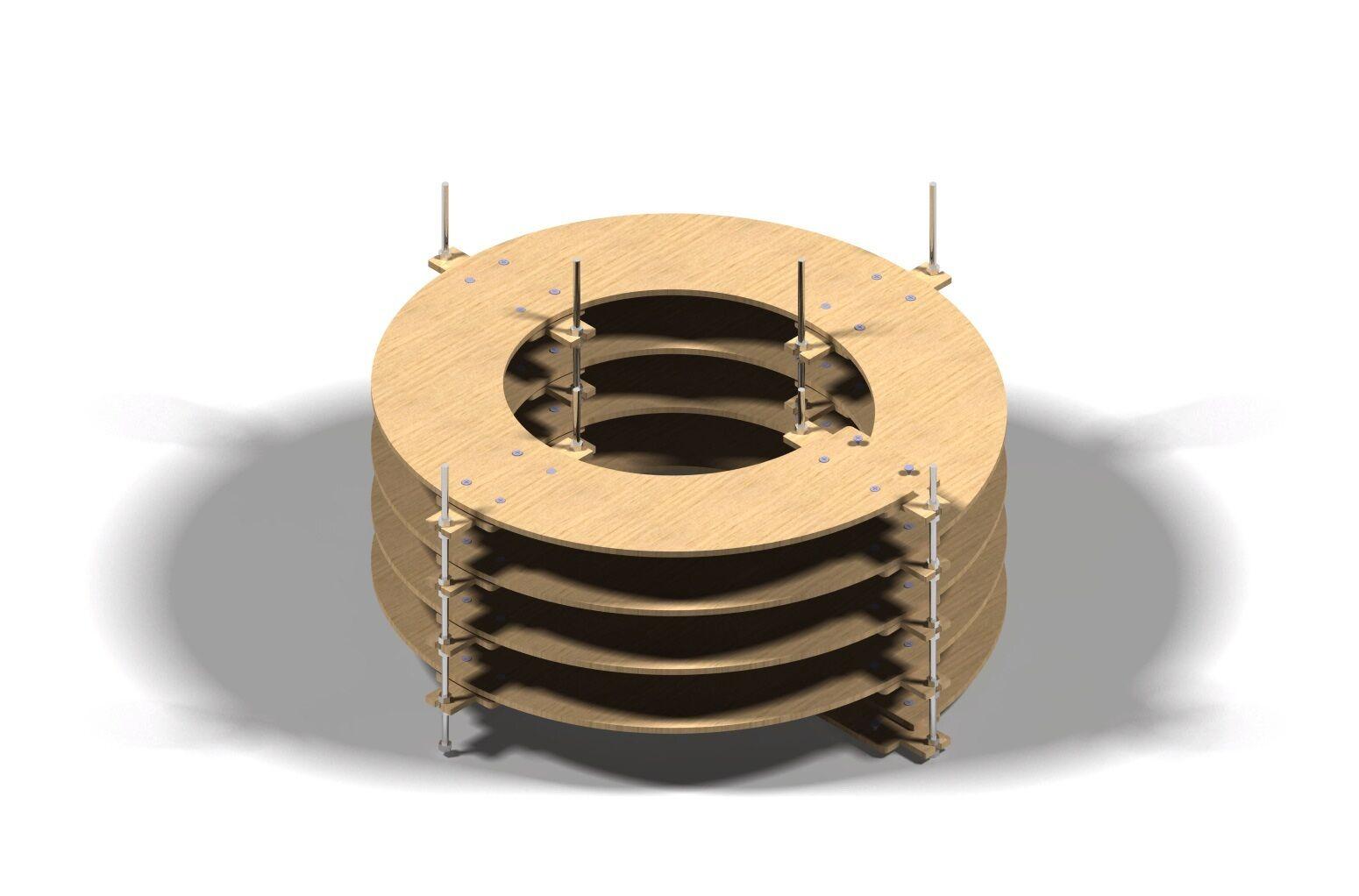 Binario Wendel Spur N, Traccia Z doppio binario, 4 giri CNC realizzato