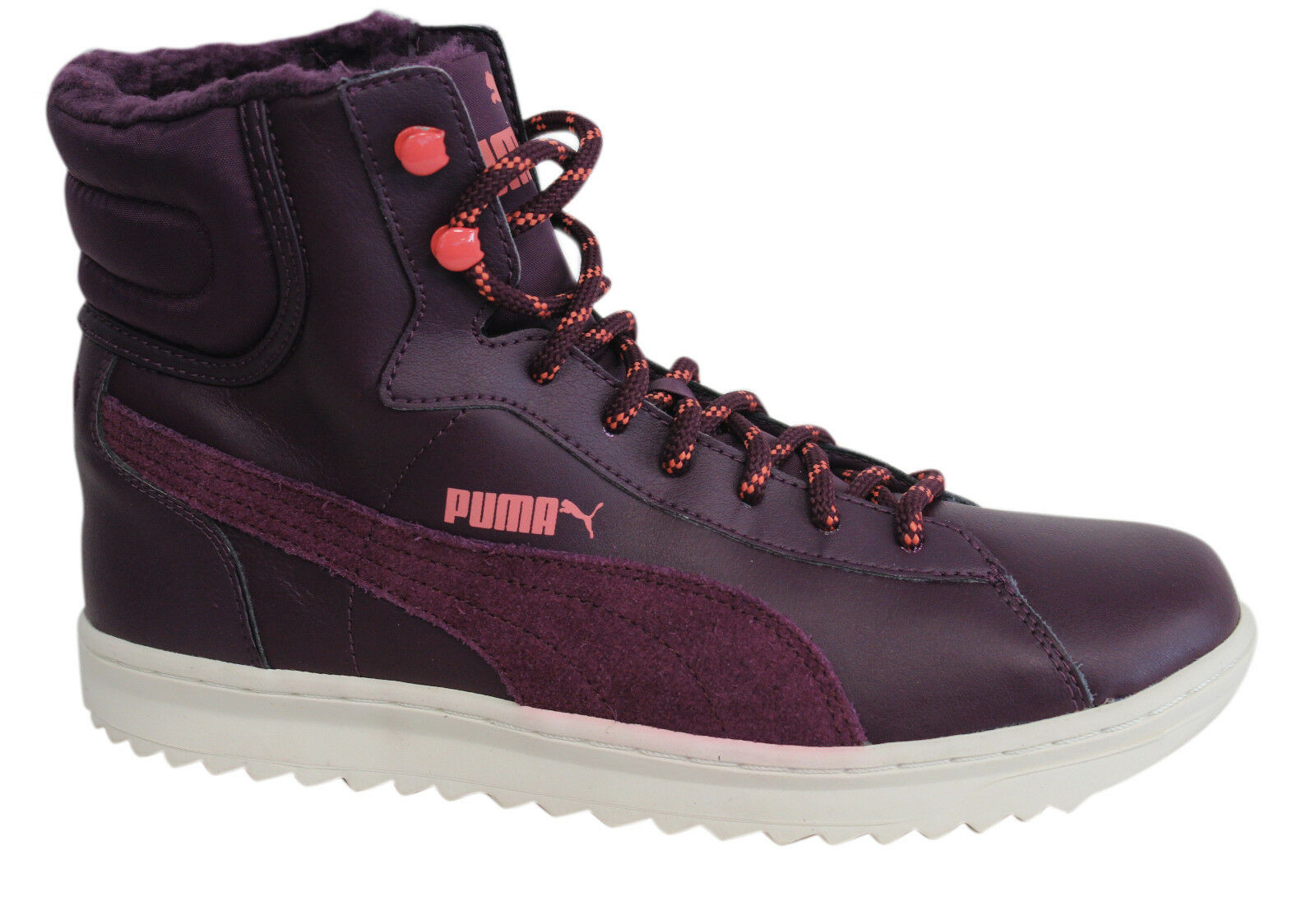 Puma Vikky Mid Lace Up Leder Dark Purple Purple Dark Damenschuhe Stiefel Trainers 356732 01 D67 04330e