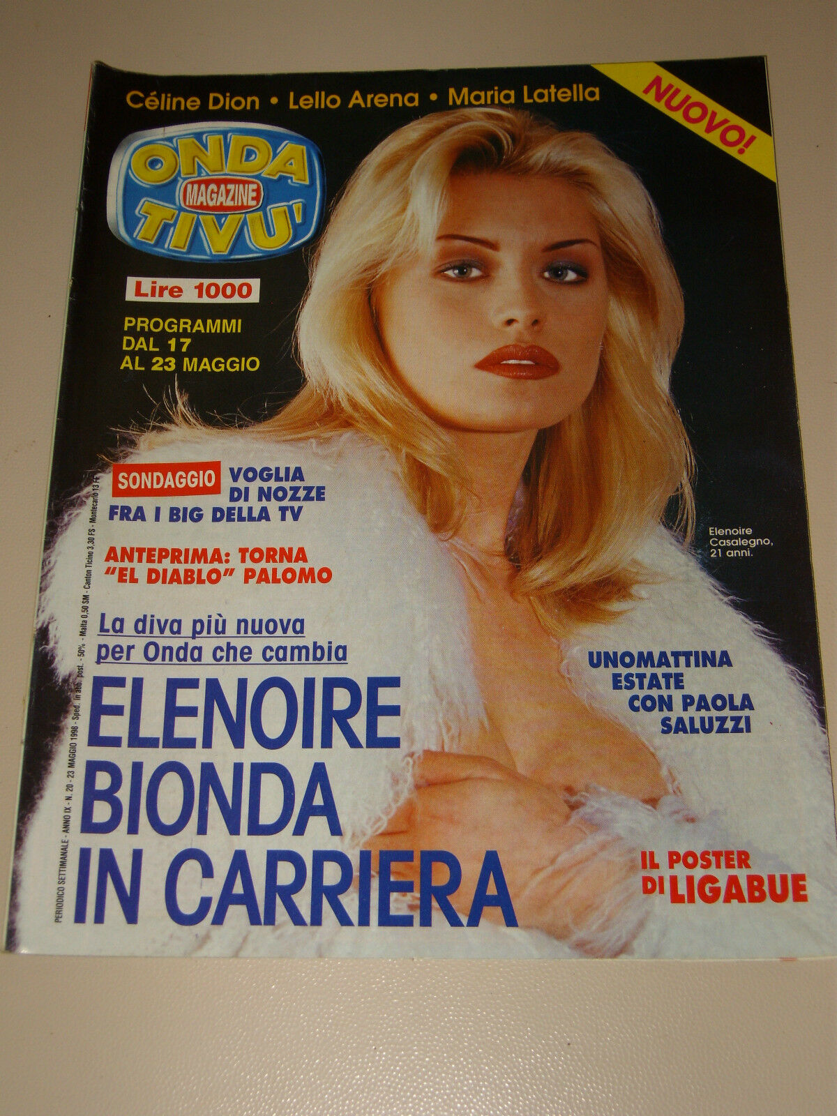 ONDA TIVU=1998/20=ELENOIRE CASALEGNO=MARIA LATELLA=LELLO ARENA=LIGABUE  LUCIANO= | eBay