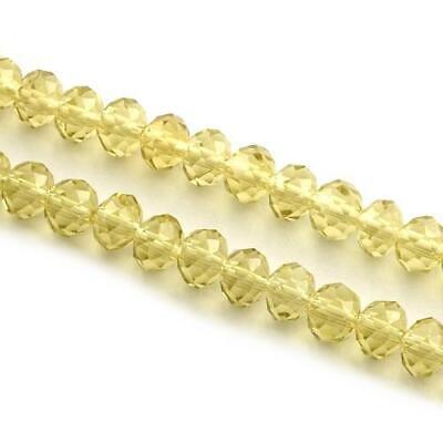 Pcs Art Hobby Czech Crystal Opaque Glass Faceted Rondelle Beads 4 x 6mm Cyan 95