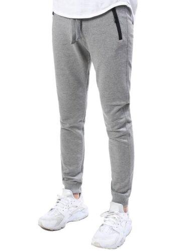 Men/'s Jogger Pants Hip Hop Bike Moto Casual Winter Fleece Sweatpants Black  New