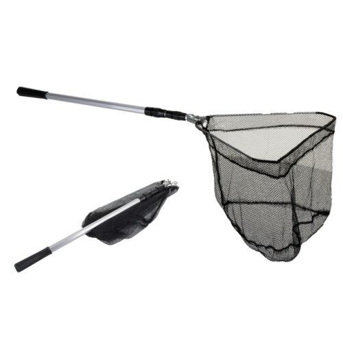 Landing Net Telescopic Folding Fishing Extending Fly Carp Long Handle Durable UK