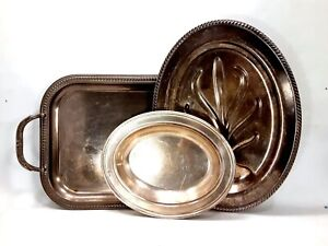 Set-of-3-Assorted-Vintage-Mid-Century-Silverplate-Trays-Platters-EPNS-Sheffield