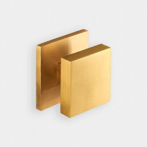 Luxury Modern Square Solid Brass Exterior Front Door Gold Centre Door Knob 5060535170727 Ebay