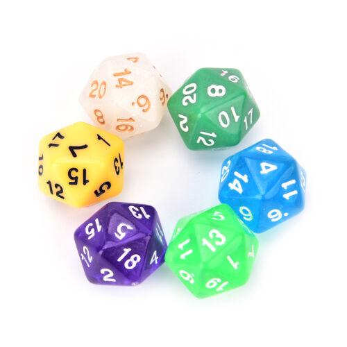 D20 gaming dice twenty sided die number 1-20 for RPG game RS