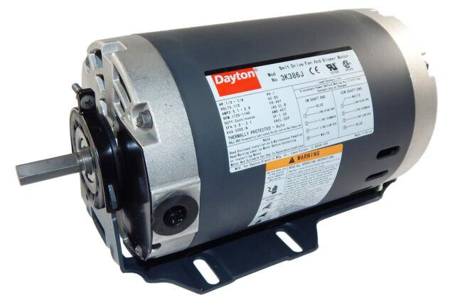 1/3 HP 1725 RPM 2-sd 115v Whole House Fan Motor Dayton 3K386 Dayton Motor K Wiring Diagram on