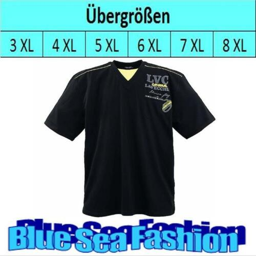 lavecchia T-Shirt kurzarm Übergröße Designer Polo Shirt V-Neck 3 4 5 6 7 XL XXXL