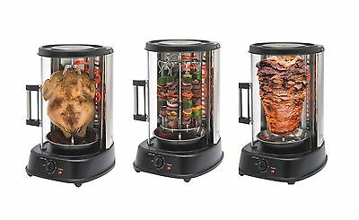 QUALITY VERTICAL ELECTRIC ROTATING GRILL ROTISSERIE CHICKEN SHAWARMA KEBAB & BBQ