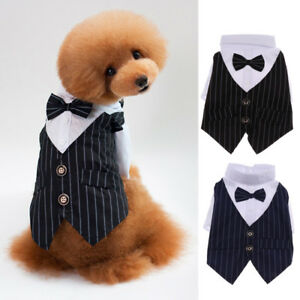 Pet-Dog-Cat-Puppy-Clothes-Suit-Tuxedo-Costume-Perfect-for-Wedding-Party