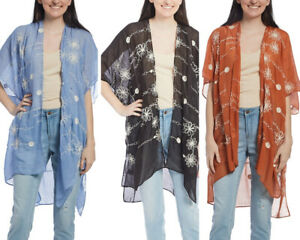 Women Beachwear Bikini Cover Up Sarong Beach Summer Loose Swimwear Embroidered