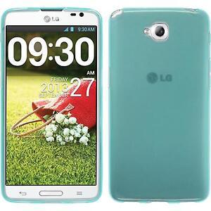 Funda-de-silicona-LG-G-Pro-Lite-Dual-transparente-turquesa