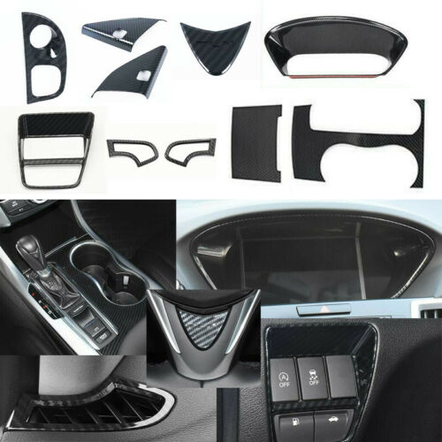 10X ABS Carbon fiber Interior Accessories Cover Trim For Acura TLX 2015-2019