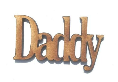 10x WOODEN DADDY SHAPES craft blank embellishment scrapbook wedding card words
