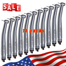 11pcs SANDENT NSK PANA MAX Style Dental High Speed Handpiece Push Button 4 Hole