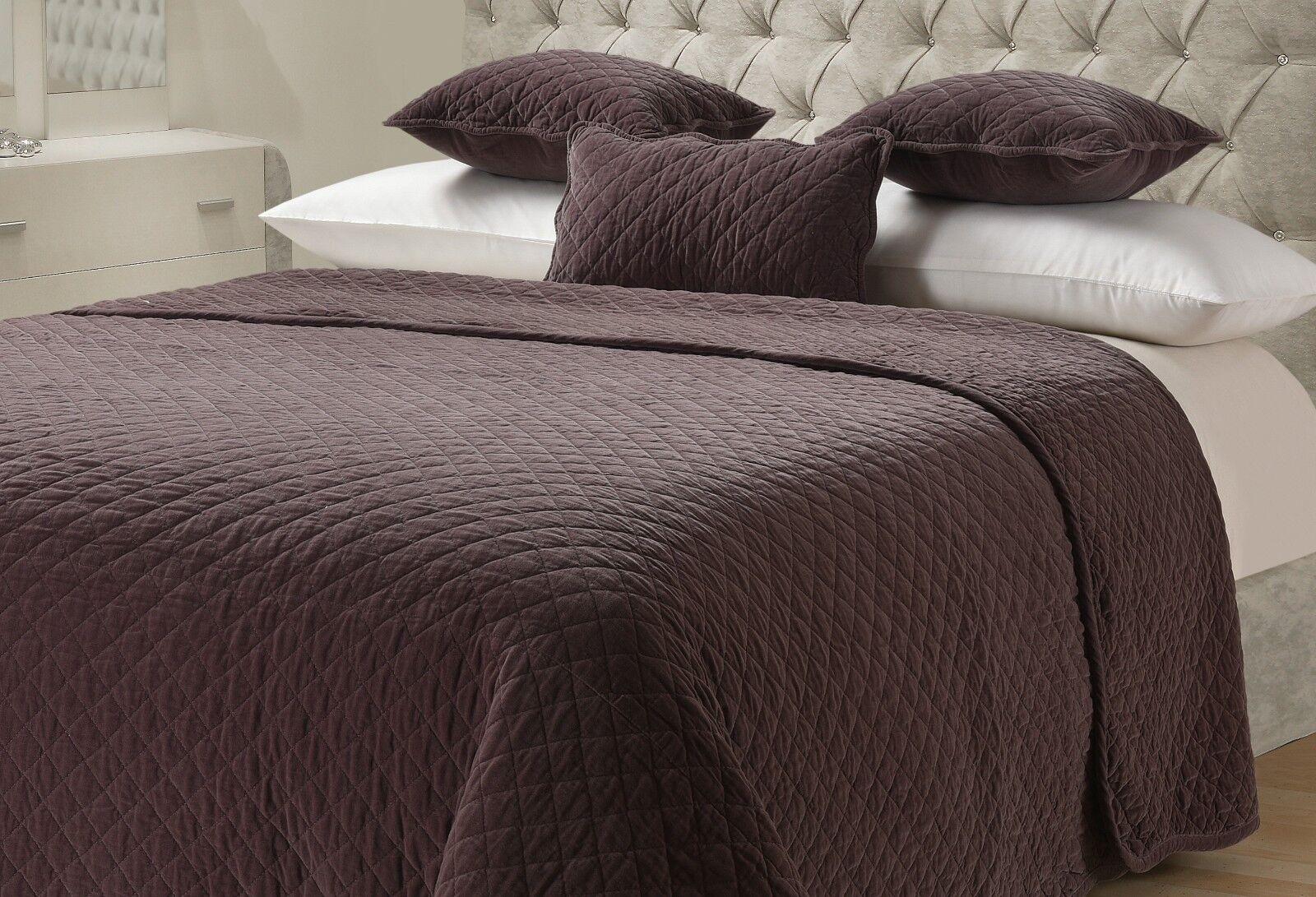 Matelassé lit Throw 100% Coton Sofa Jeté de lit Matelassé sur couverture cousue Stone Wash 7fd3fe