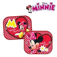 2 x Minnie Mouse NEW Genuine Disney Sun Shades Car Window Anti UV Blinds Kids
