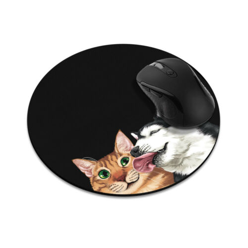 Animal Design Circle Mouse Pad Mice Mat Non-Slip Rubber For Laptop Computer PC