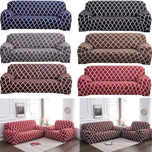 1-4 Seat Stretch Elastic Sofa Cover Protector Geometric Chair//Couch Slipcover US